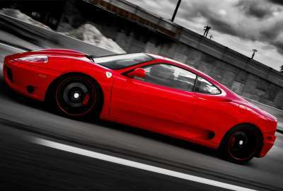 Ferrari on Forged CF Wheels wallpaper