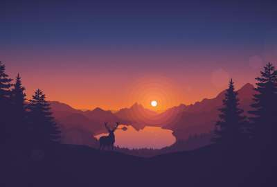 Firewatch at Dawn wallpaper