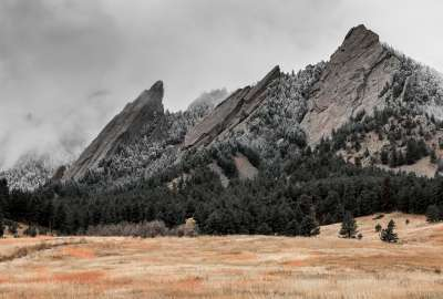 Flatirons With the First Snow of the Year - Boulder Colorado wallpaper