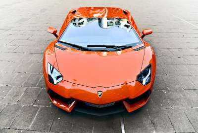 Front Orange Lamborghini Look wallpaper