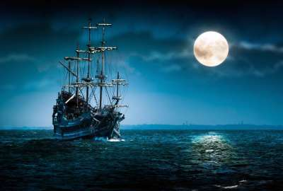 Full Moon Sailboat wallpaper