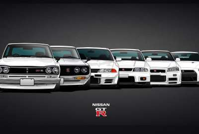 Generations of the GT-R wallpaper