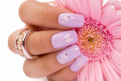 Girl Nails Flowers wallpaper