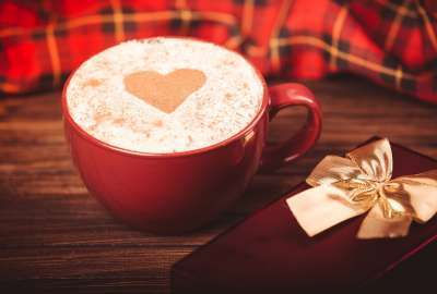 Heart Shaped Coffee With Sweets wallpaper