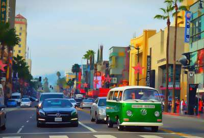 Hollywood Blvd Softened Photo wallpaper