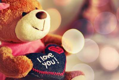 I Love You Teddy Bear wallpaper