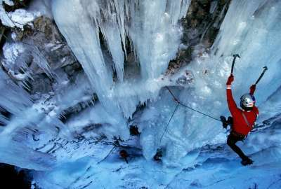 Ice Mountain Climbing wallpaper