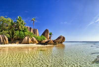 La Digue is the Third Largest Inhabited Island of the Seychelles wallpaper