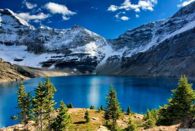 Lake Ohara Yoho National Park British Columbia wallpaper