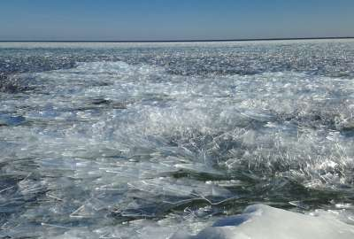 Lake Superior Ice Bete Grise Bay wallpaper
