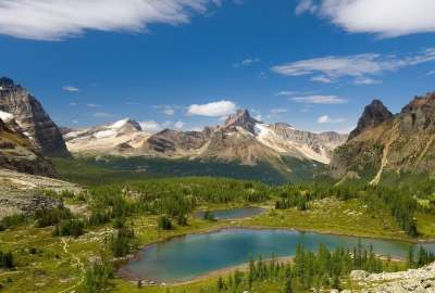 Lake With Mountains Landscape 1303 wallpaper