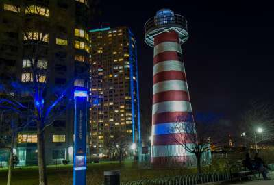 Lefrak Point Lighthouse Jersey City NJ wallpaper