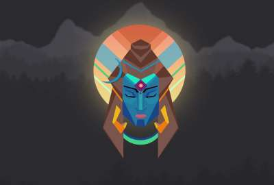 Lord Shiva Minimal - OC wallpaper