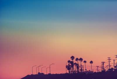 Los Angeles California at Sunset wallpaper