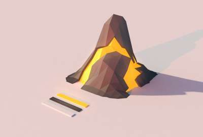 Low Poly Volcano wallpaper