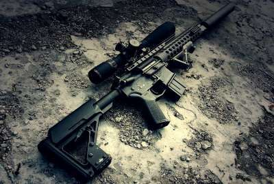 M4a1 Gun With Sniper wallpaper