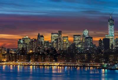 Manhattan Skyline New York Panorama wallpaper