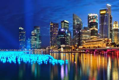 Marina Bay Singapore Panorama wallpaper