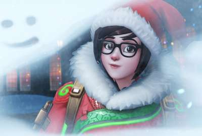 Mei Overwatch Winter Wonderland wallpaper