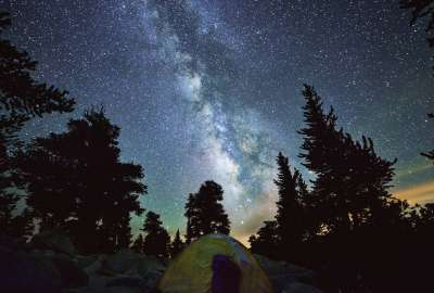Milky Way in High Sierras wallpaper