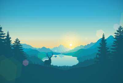 Minimalist Nature Scene wallpaper