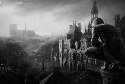 Monochrome Assassins Creed wallpaper