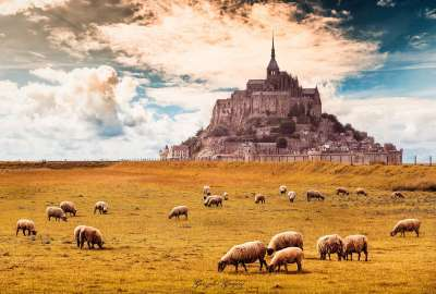 Mont-Saint-Michel France wallpaper
