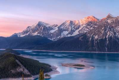Mountains and Lake Landscape wallpaper