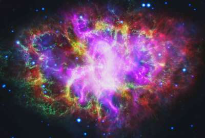 Multiwavelength Crab Nebula wallpaper
