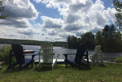 Muskoka Chairs by the Lake wallpaper