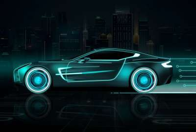 Neon Sports Car wallpaper