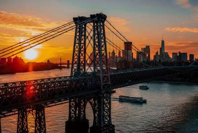 New York Bridge Dawn wallpaper