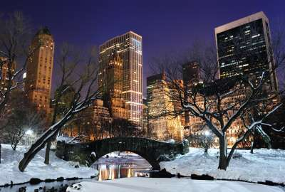 New York Central Park in the Winter wallpaper