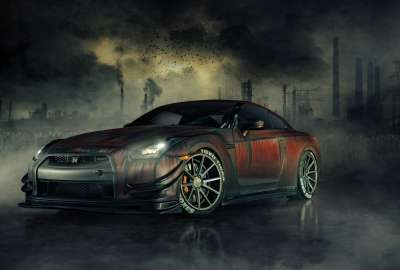 Nissan GTR R Zombie Killer wallpaper