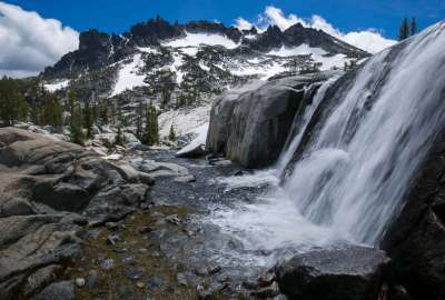 One of the Many Waterfalls Connecting Lakes in The Enchantments WA wallpaper