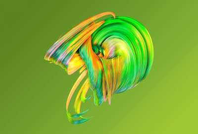 Paintwave Green wallpaper
