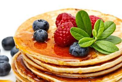 Pancakes With Strawberry, Mint and More wallpaper