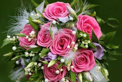 Pink Flowers Bouquet wallpaper