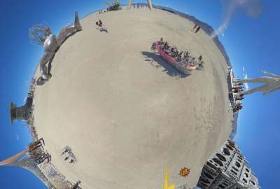 Planet Burning Man wallpaper
