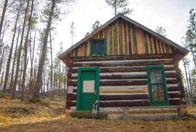 Preserved Cabin in the Black Hills of South Dakota wallpaper