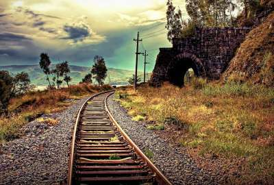 Railroad Landscape wallpaper