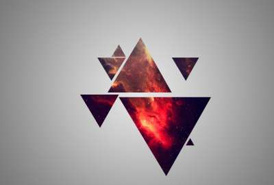 Red Galaxy Triangles wallpaper