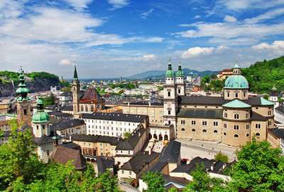 Salzburg Cathedral View From Top wallpaper