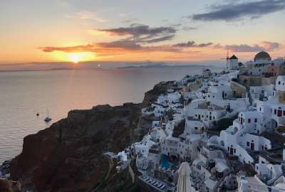 Santorini Sunset wallpaper