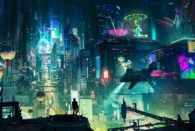 Sci Fi City wallpaper