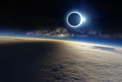 Solar Eclipse From Space wallpaper