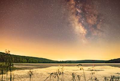 Still Amazed How Clear the Milky Way Was Just Miles West of NYC - Shohola Marsh Reservoir PA wallpaper