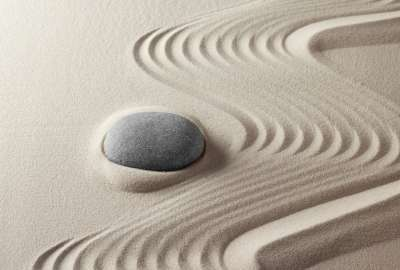 Stone in Sand Design wallpaper