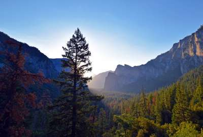 Sunrise at Tunnel View Yosemite wallpaper