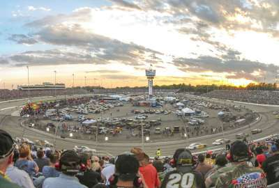 Sunset at a NASCAR Race wallpaper